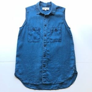Madewell Chambray Denim Workbench Button Down Top